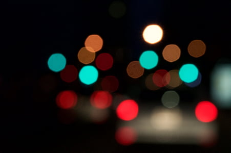 bokeh, background, city lights, abstract, blurred, downtown