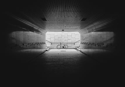 underpass, underbridge, passage, undercrossing, bike, tunnel