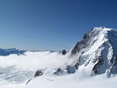 white snow covered mountain