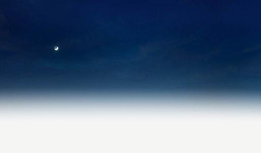 nightsky, clear night, moon, dark, sky, clouds