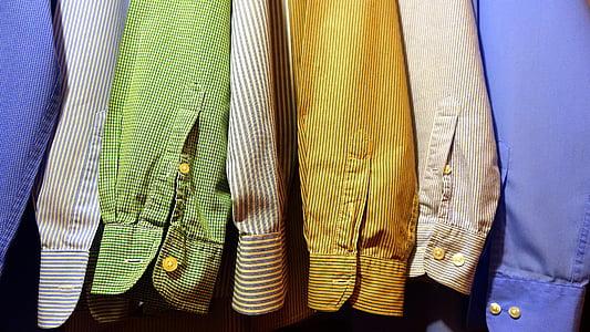 assorted long-sleeved dress shirts