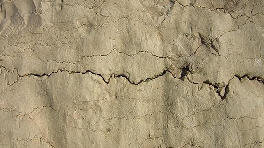 gap, crack, lime, erosion, limestone, jagged