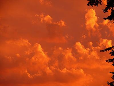 orange skies during sunset