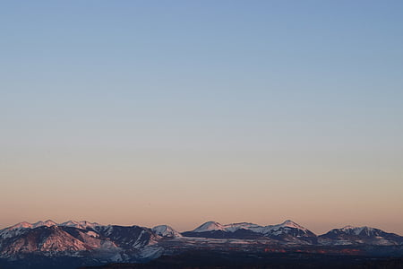 panoramic view of snow-capped mountain ranges