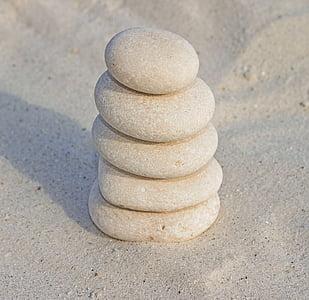 pile of brown stones
