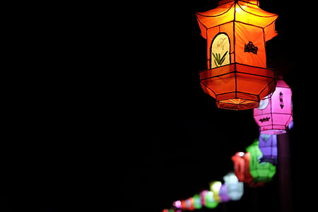 assorted-color lantern lot with