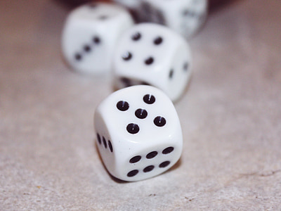 several dices on floor