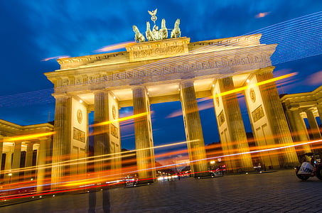 timelapse photography of Brandenburg Gate, Germany