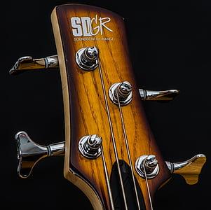 brown SD GR guitar headstock