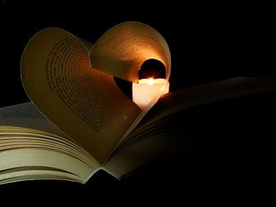 book near white candle