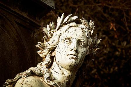man face statuette