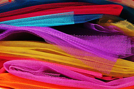 assorted-color meshed textile lot
