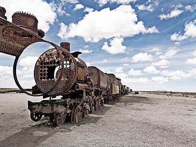 rustic brown train boat