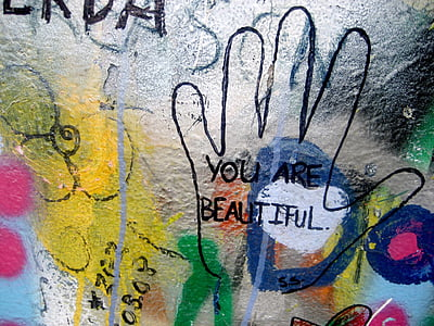 you are beautiful text