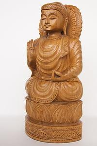 brown Abhaya Mudra figurine
