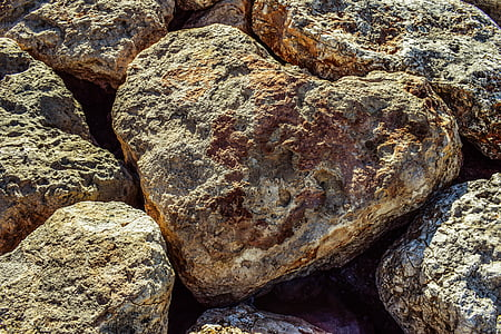 heart-shaped brown stone