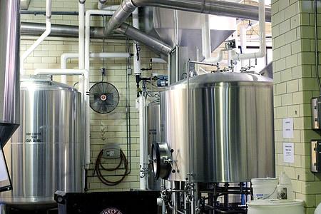 grey stainless steel industrial machine