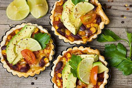 three vegetable pies