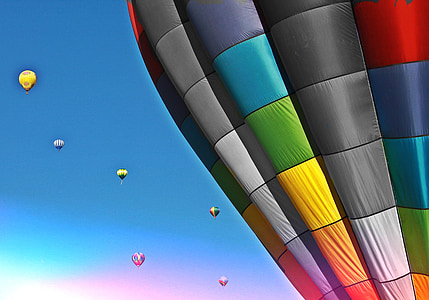 assorted-color hot air balloon