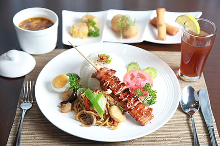 photo of pork barbecue on plate
