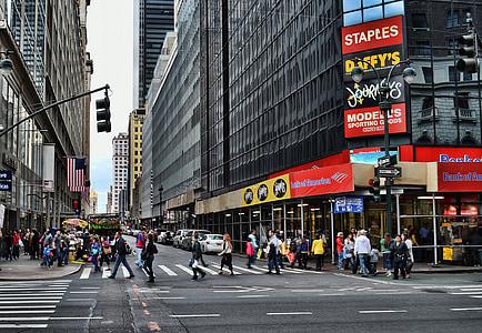 people crossing the pedestrian lane