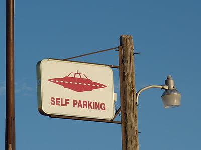 Self Parking signage
