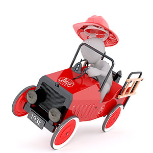 red vehicle die-cast metal