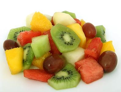 variety of slice fruits