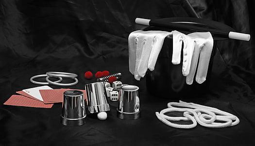assorted magician tools