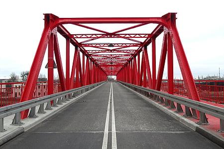gray concrete footbridge