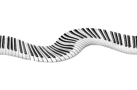 piano keys artwork against white background