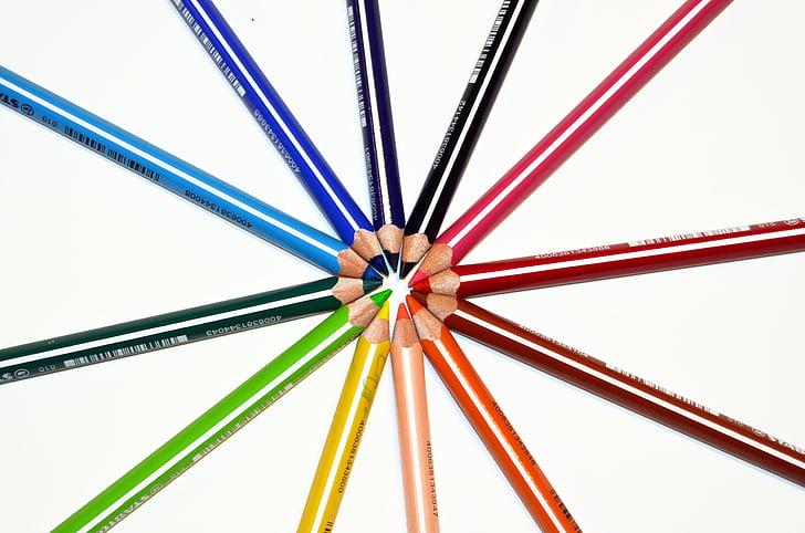 assorted-color art pencil lot