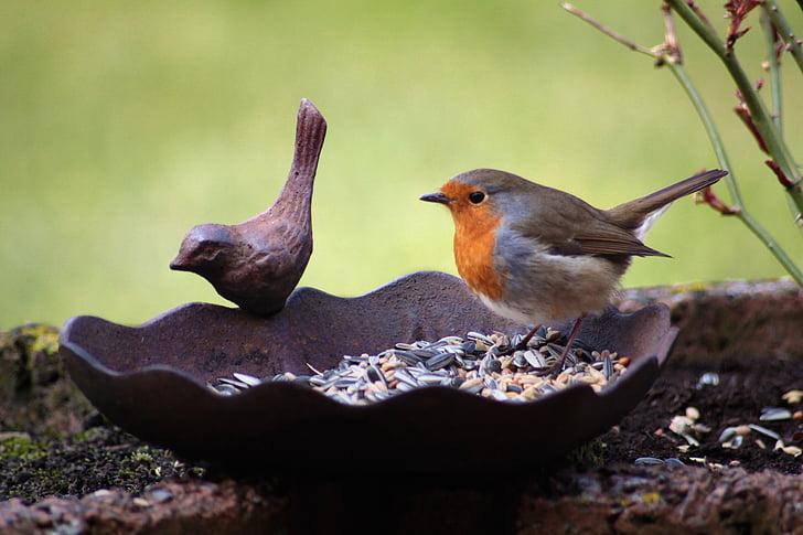 brown bird statuette