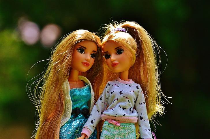 two female toy dolls