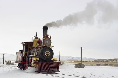 train on tundra