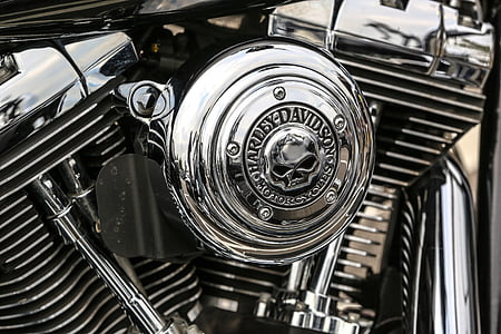 gray Harley-Davidson engine