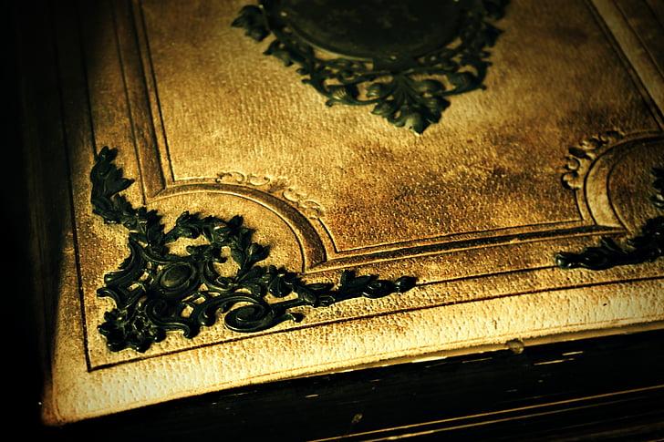 old book, book, ornament, decoration, last century, literature
