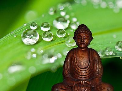 brown wooden buddha
