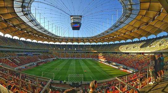 soccer stadium on daytime