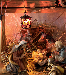 Nativity ceramic figurines
