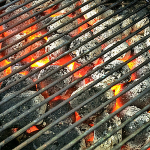 photo of charcoal and grill