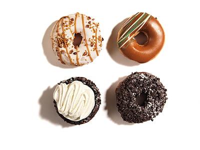 four flavored doughnuts