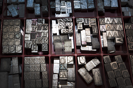 gray metal decor lot