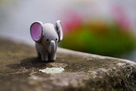 gray elephant figure