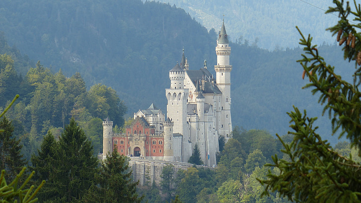 gray and brown painted castle