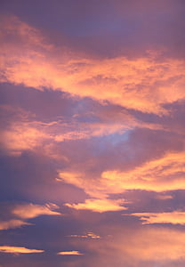 orange and blue clouds during golden houre
