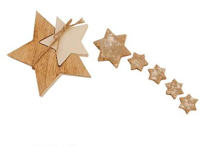 beige wooden star decor