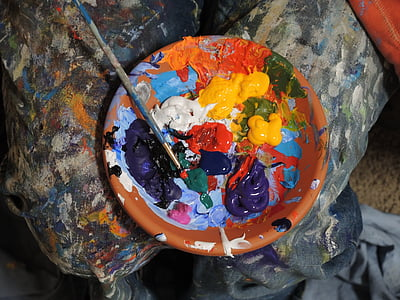 photo of mixed paints