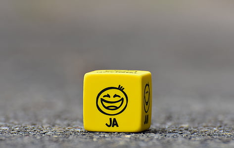yellow JA dice