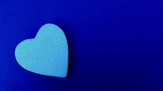 heart-shaped blue decor photo